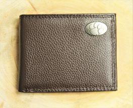 Clemson Brown Pebble Wallet