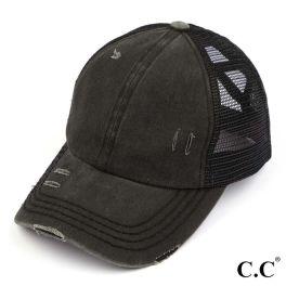 CC Pony Hat - Black/Black