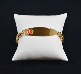 Men's Link Medical Alert Bracelet - Gold Tone