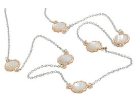 Frederic Duclos Sterling Silver Mother of Pearl Necklace