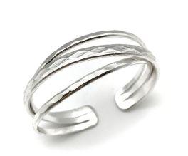 Anju Silver Plated Cuff Bracelet - Silver