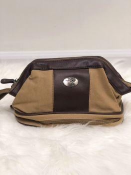 Palmetto Khaki Canvas Toiletry Bag