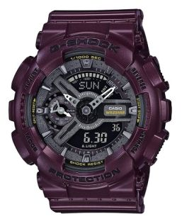 Casio G-Shock S-Series Dark Metallic Burgandy Watch
