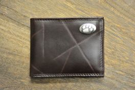 Brown Wrinkle Passcase Clemson Wallet