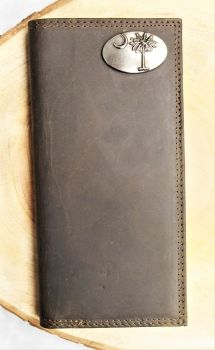 Palmetto Brown Leather Roper Wallet