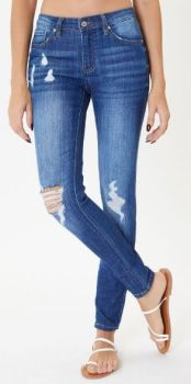 First Look Mid Rise Super Skinny Jeans - Medium Wash