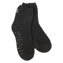 World's Softest Cozy Quarter Socks With Grippers - Black