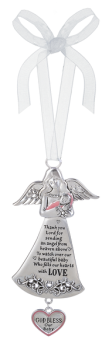 Angel Crib Ornament - Baby Girl