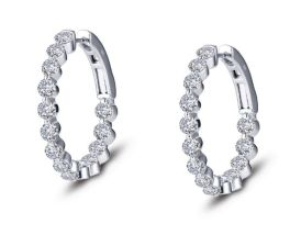 Lafonn Classic Hoop Earrings - 3.08 CTTW