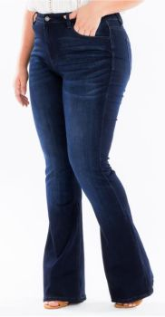 In A Mood Plus Flare Jeans - Dark Wash