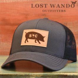 SC Pig Hat - Charcoal & Black
