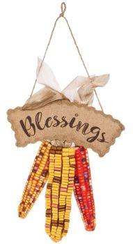 Harvest Blessing Burlap Door Décor