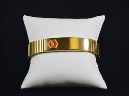 Men's Stretch Medical Alert Bracelet - Gold Tone