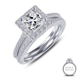 Sterling Silver Cushion-Cut Engagement Set - Lafonn