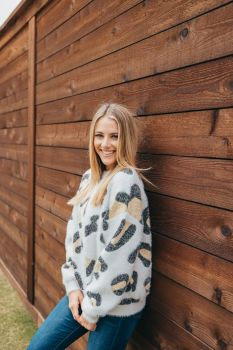 Simply Southern Cheetah Sweater - Brown
