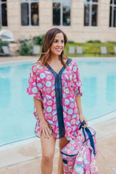 Simply Southern Shell Beach Cover-up - Cherry