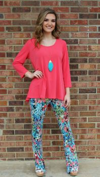 Everyday Moves Tunic - Coral