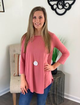 Forever Favorite Tunic - Dusty Rose