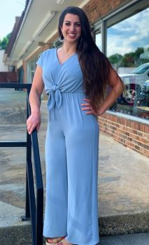 Steal Your Heart Jumpsuit - Blue
