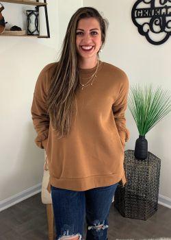 In My Comfort Zone Sweatshirt - Camel