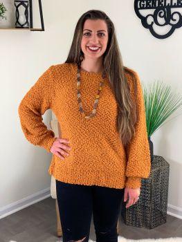 Cozy Nights Sweater - Mustard