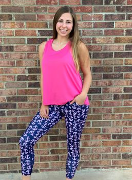 Simply Southern Yoga Legging - Anchor
