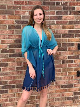 Riptide Vibes Cover-Up - Turquoise