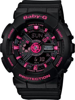 Ladies Black & Pink Baby-G Watch