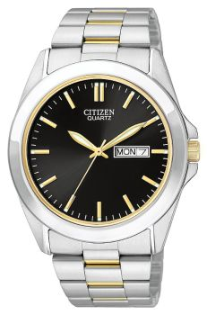 Mens Two-Tone Stainless Steel Quartz Watch