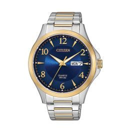 Mens Two-Tone Stainless Steel Citizen Quartz Watch
