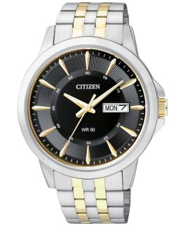 Mens Two-Tone Citizen Quartz Watch