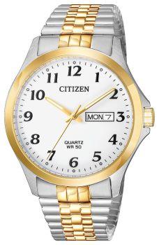 Mens Expansion Two-Tone Citizen Quartz Watch
