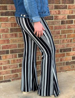 Right For Me Flare Pants - Black/White