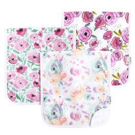 Premium Burp Cloth Set - Bloom
