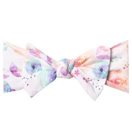 Copper Pearl Knit Headband Bow - Bloom