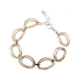 Sterling Silver And Rose Gold Plated Vanessa Bracelet