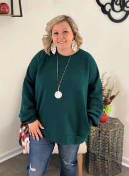 In My Comfort Zone Plus Sweatshirt - Hunter Green
