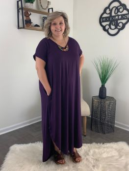Living The Dream Plus Maxi Dress - Plum