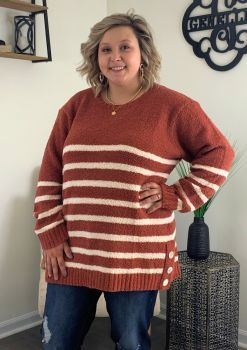 Feeling Good Plus Sweater - Terracotta