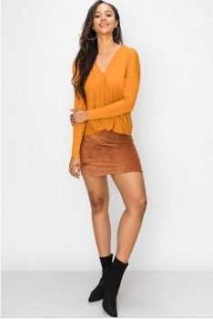 Moments Like These Corduroy Skirt - Brown