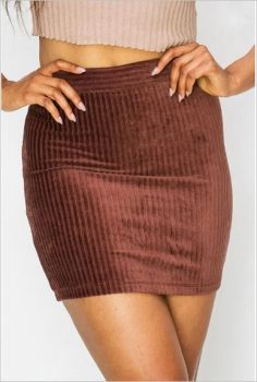Moments Like These Corduroy Skirt - Dark Burgundy