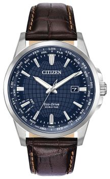 Men's World Time Citizens Eco-Drive Watch