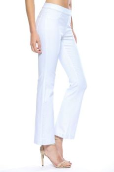 Let The Love In Flare Jeans - White