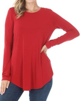 Forever Favorite Plus Tunic - Dark Red