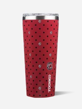 Corkcicle 24oz Tumber - Polka Dot University of Carolina