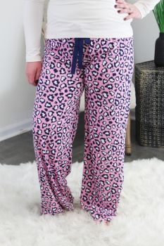 Simply Southern Lounge Pants - Cheetah Pink