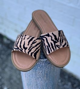 Fast Lane Sandals - Tiger Print