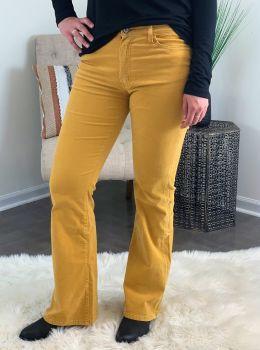 Add Some Flare Corduroy Pants - Mustard