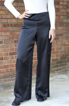Drops Of Style Satin Pants - Black