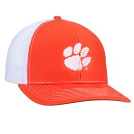 Paw Logo Mesh Hat - Orange & White